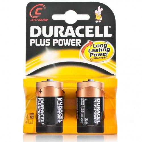 Duracell alkalin pil  Plus C 2 li paket