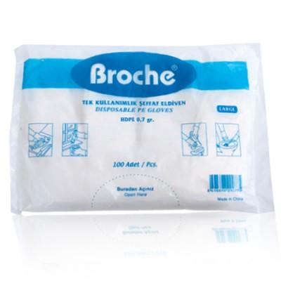 broche tek kullanımlık eldiven