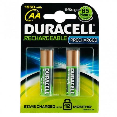 duracell sarj edilebilir AA alkalin kalem pil 2li paket