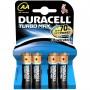 duracell turbo AA alkalin kalem pil  4lü paket