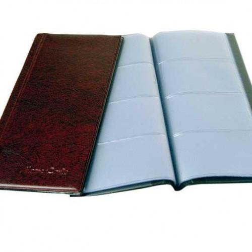 kartvizitlik albumu suni deri 12cmx24cm boyutunda 160 kartvizit kapasiteli