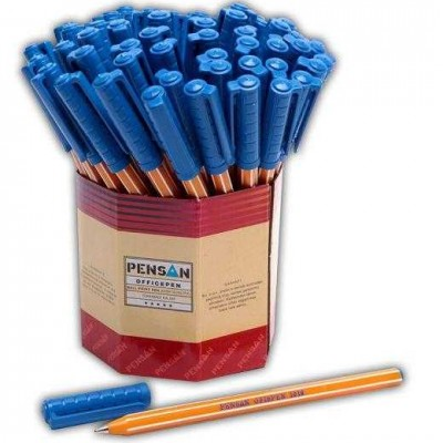 pensan ofispen tukenmez kalem mavi 60 li