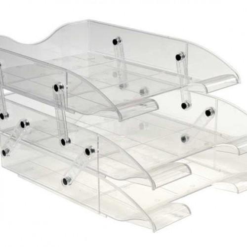 plastik uc katli hareketli evrak rafi