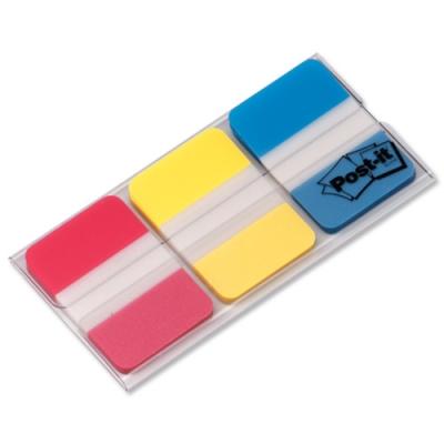 post it 3 renk sert seperatör ve işaret bandı yapışkanlı not kağıdı