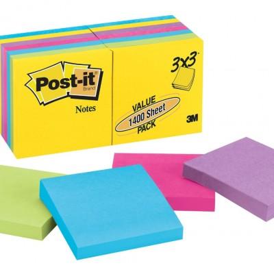 post-it kare yapışkanlı not kağıdı 3x3