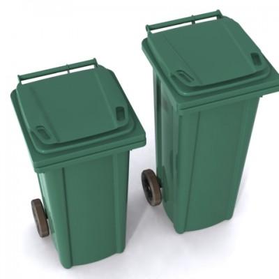 tekelekli 240 lt çöp konteyneri